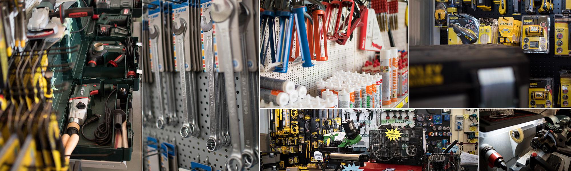 La ferramenta Tirelli ferro e inox a diversi angolazioni